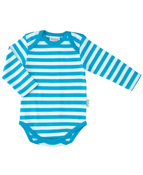 Canboli blue striped baby vest
