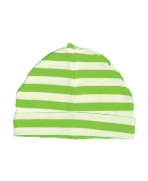 Canboli green striped baby hat
