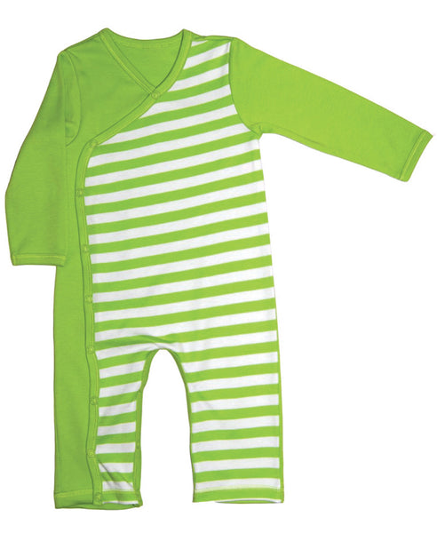 Canboli green striped romper