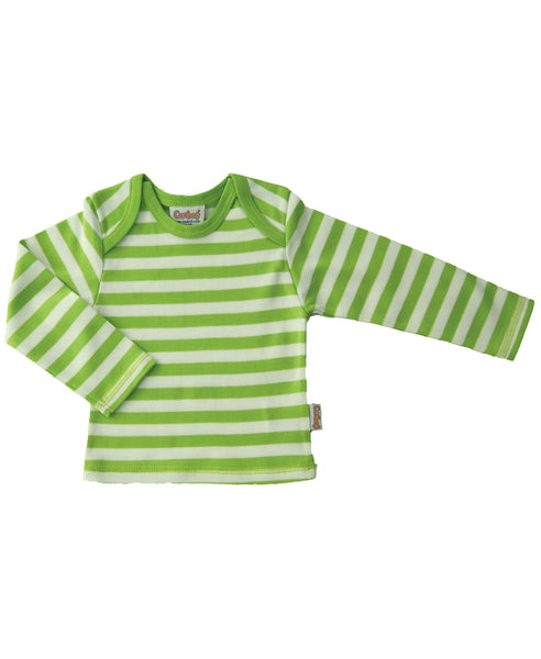 Canboli green striped top