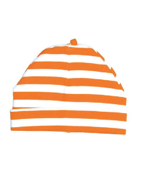 Canboli orange striped baby hat