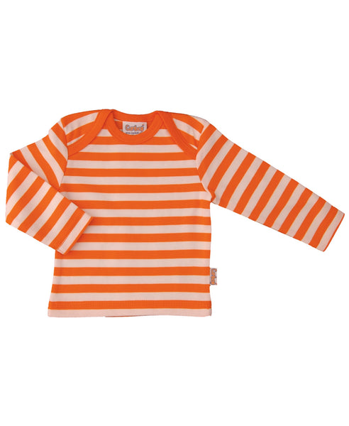 Canboli orange striped top