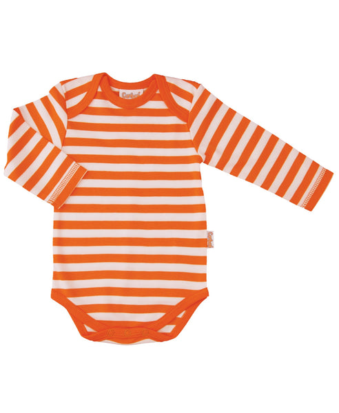 Canboli orange striped baby vest