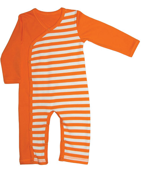 Canboli orange striped romper