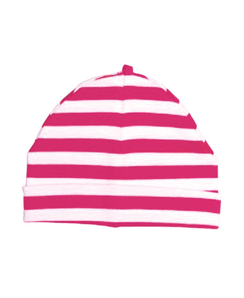 Canboli pink striped baby hat