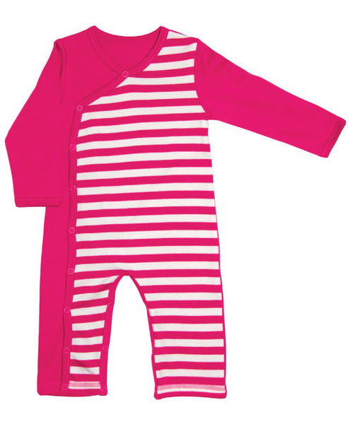 Canboli pink striped romper