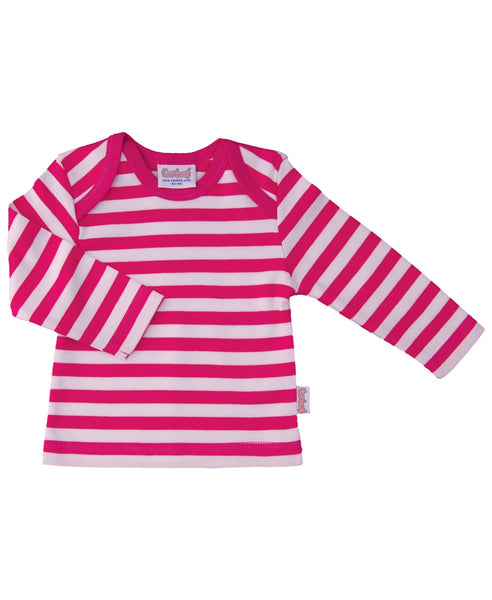 Canboli pink striped top