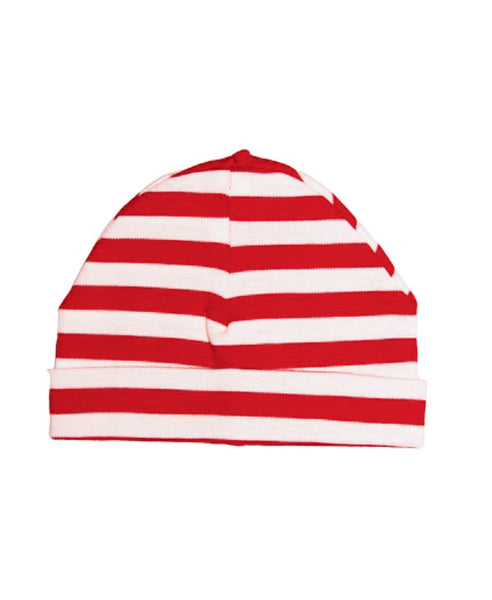Canboli red striped baby hat