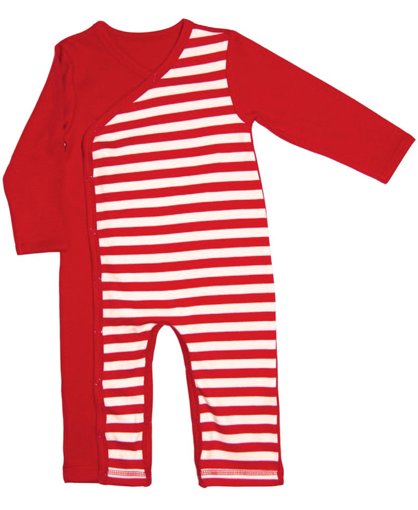 Canboli red striped romper