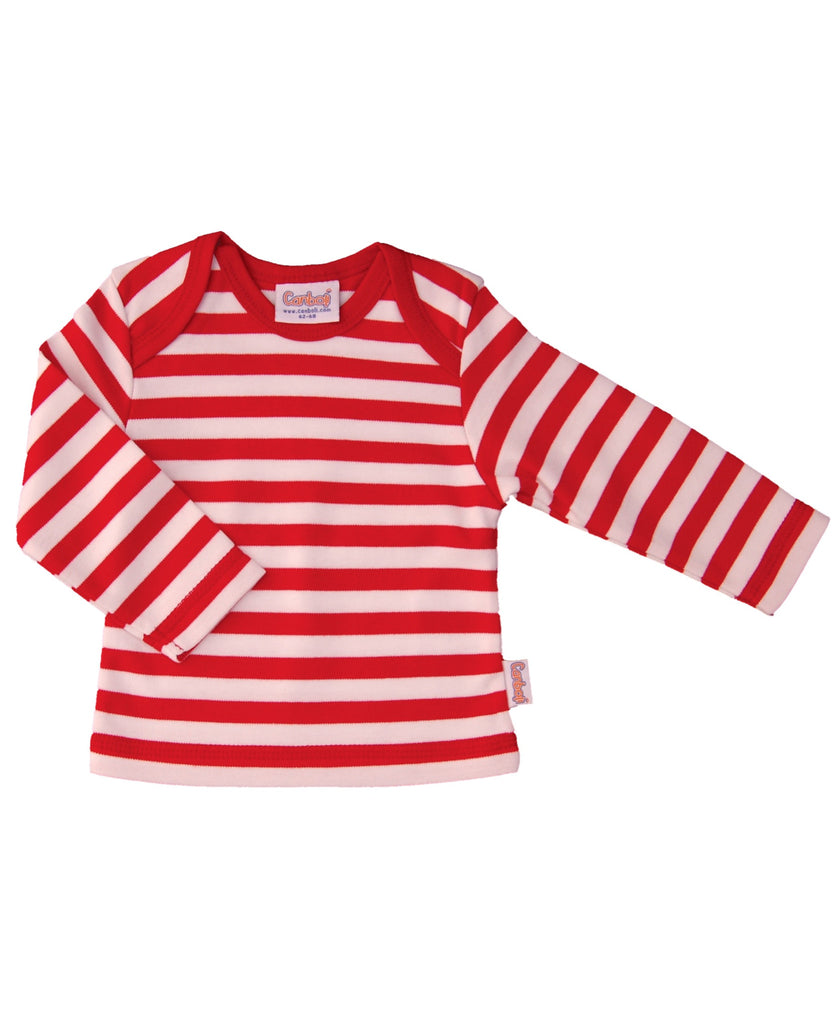 Canboli red striped top