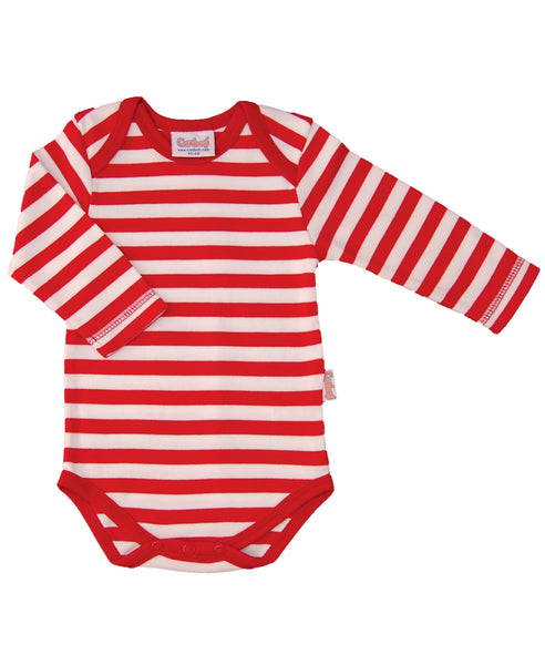 Canboli red striped baby vest