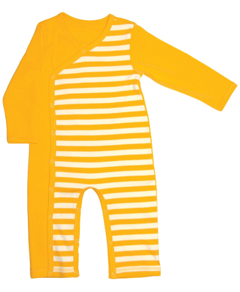 Canboli yellow striped romper