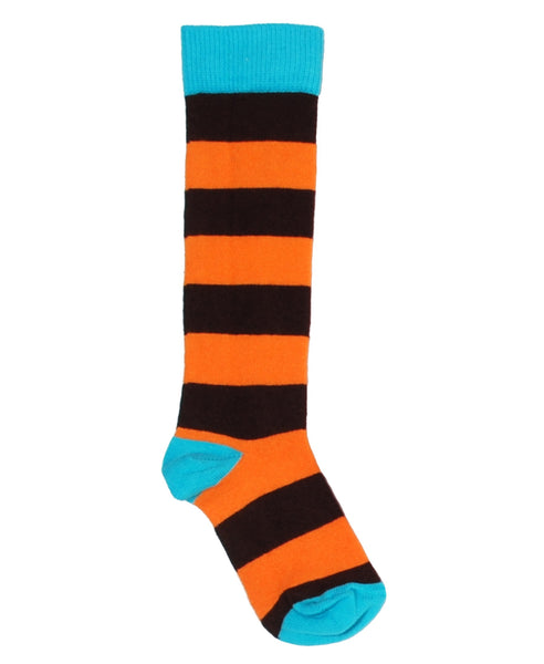 DUNS Sweden brown & orange stripe knee socks