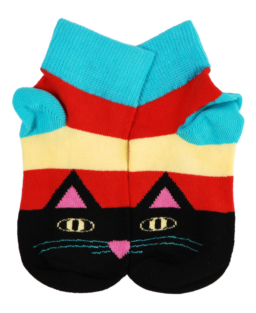 DUNS Sweden red cat face socks