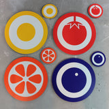 Hokolo fruit placemats and coasters