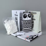 Jane Foster panda sewing kit - box, contents and finished product