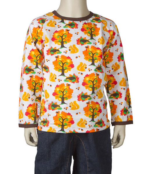 JNY Design organic unisex autumn print child top