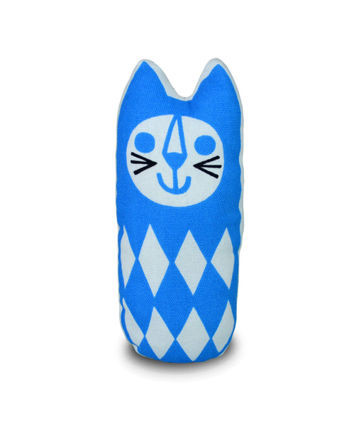 Jane Foster blue cat sewing kit - finished product