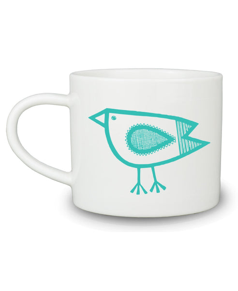 Jane Foster green bird mug