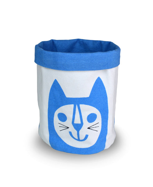 Jane Foster blue cat medium storage bucket