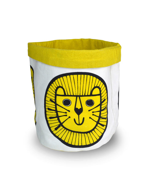 Jane Foster lion medium storage bucket