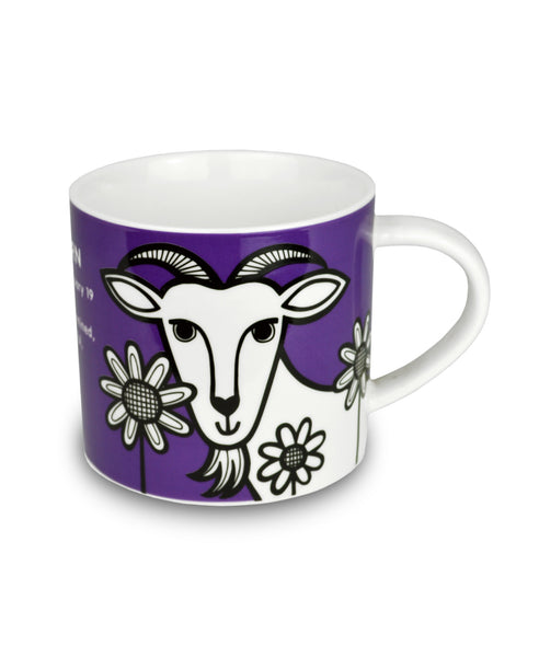 Jane Foster capricorn mug goat illustration side