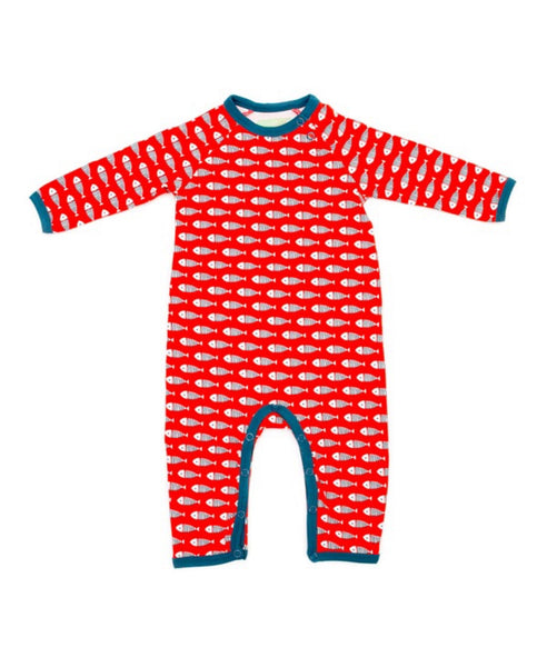 Lily Balou red Gerard fish romper