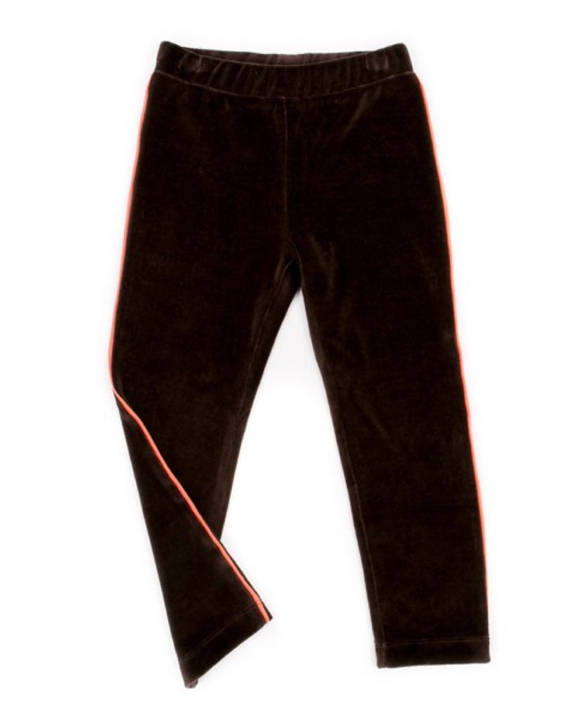Lily Balou chocolate brown Mats organic velour unisex kids trousers