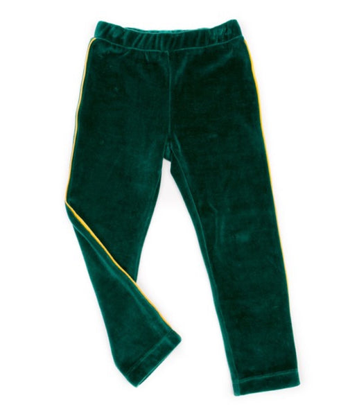 Lily Balou college green Mats organic velour unisex kids trousers