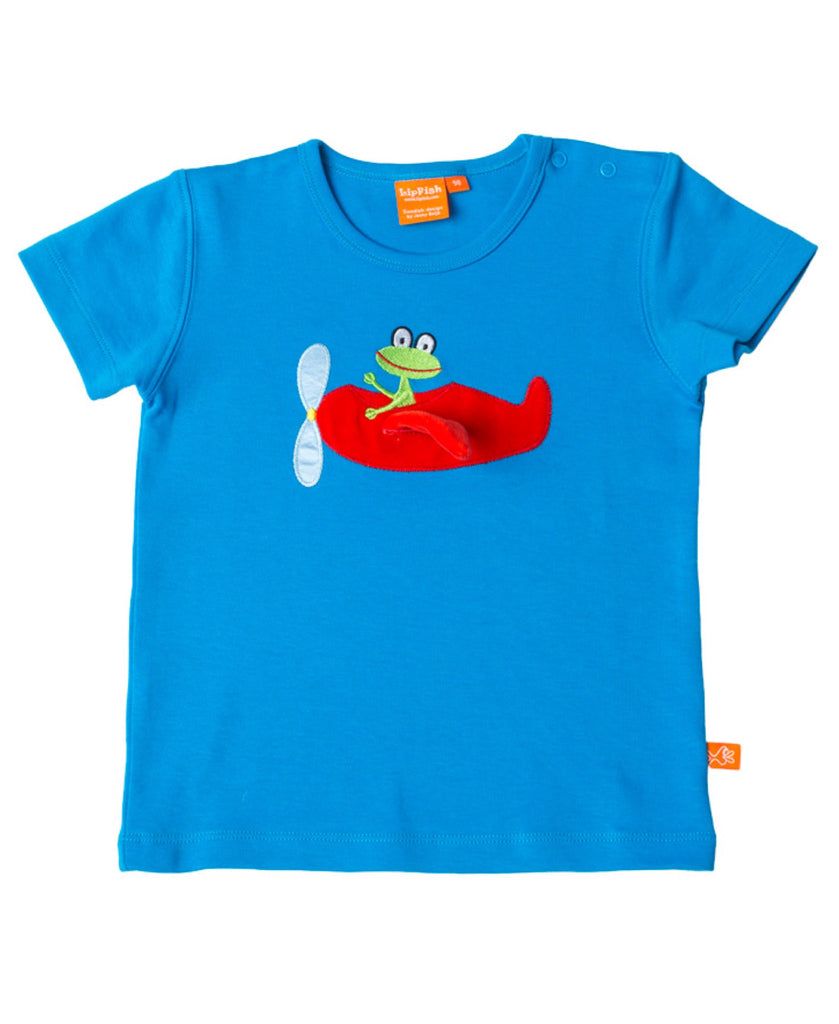 Lipfish blue aeroplane t-shirt