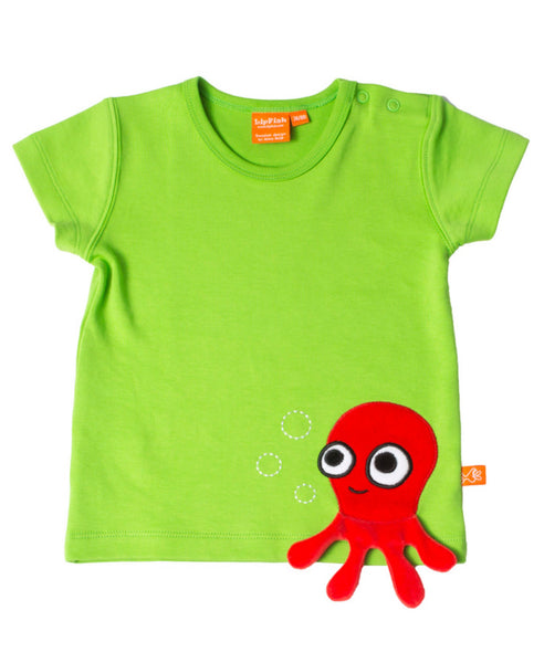 Lipfish green octopus t-shirt