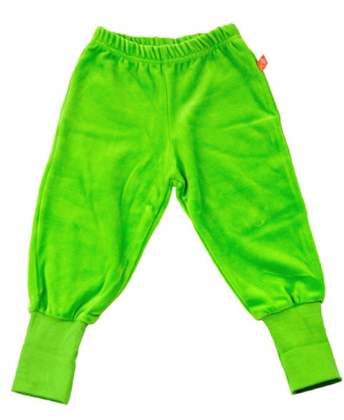 Lipfish green velour trousers