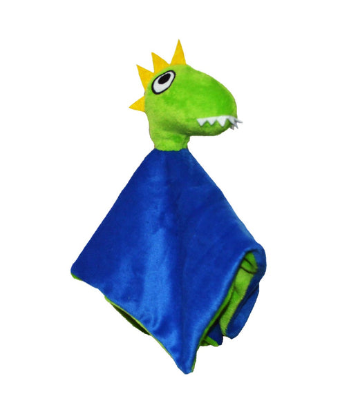 Lipfish blue dinosaur cuddle blanket