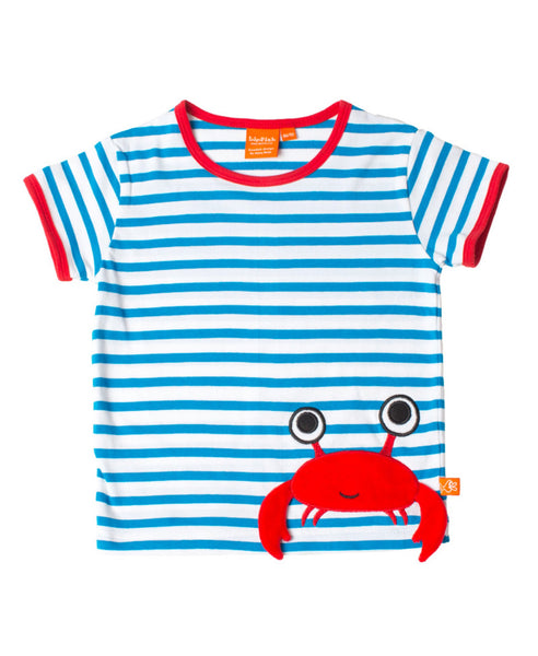 Lipfish blue stripe crab t-shirt