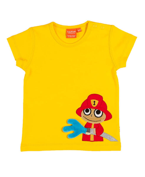 Lipfish yellow firefighter t-shirt