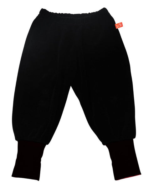 Lipfish black unisex kids' velour trousers