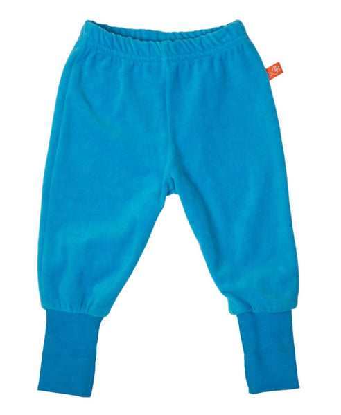 Lipfish unisex kids turquoise velour trousers