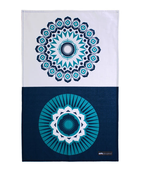 Mini Moderns blue darjeeling tea towel