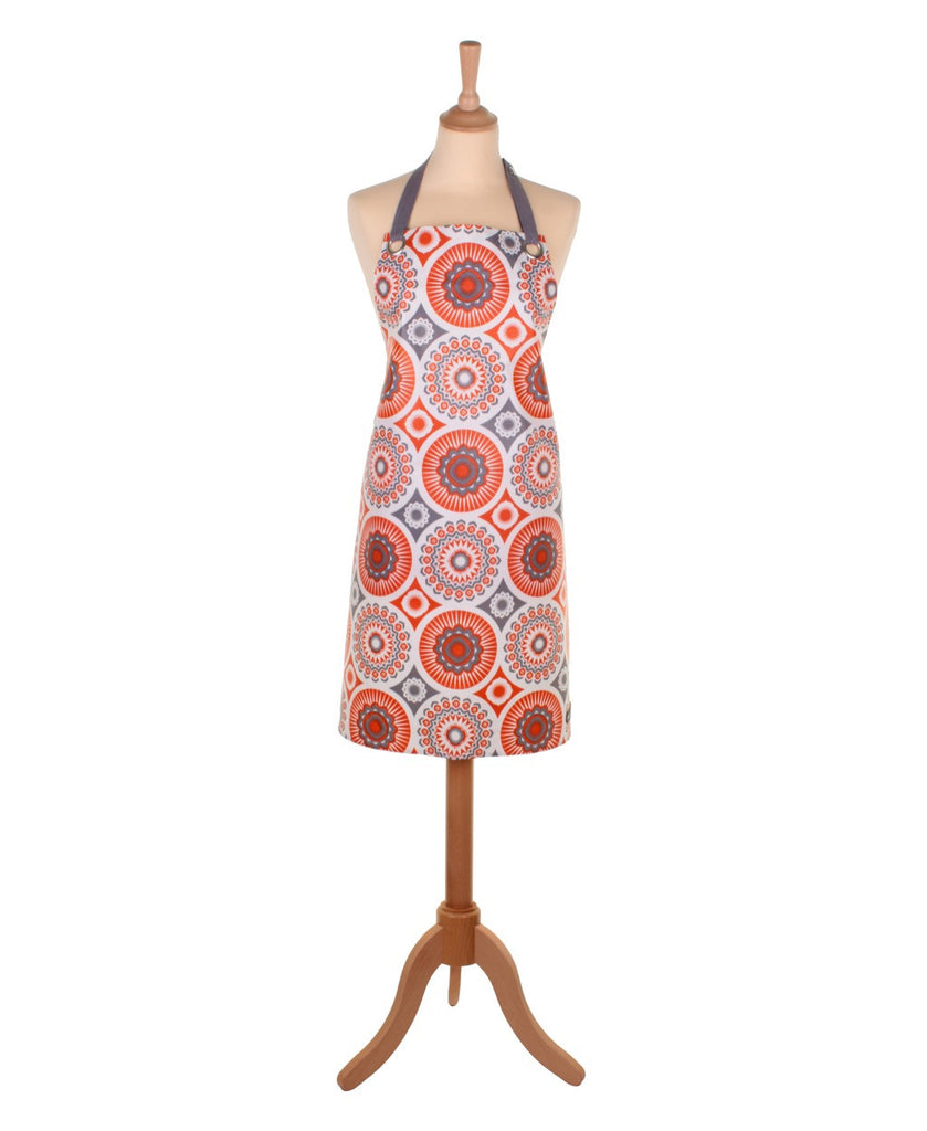 Mini Moderns orange darjeeling apron