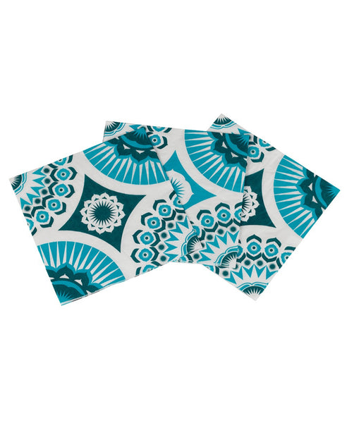 Mini Moderns blue darjeeling paper napkins