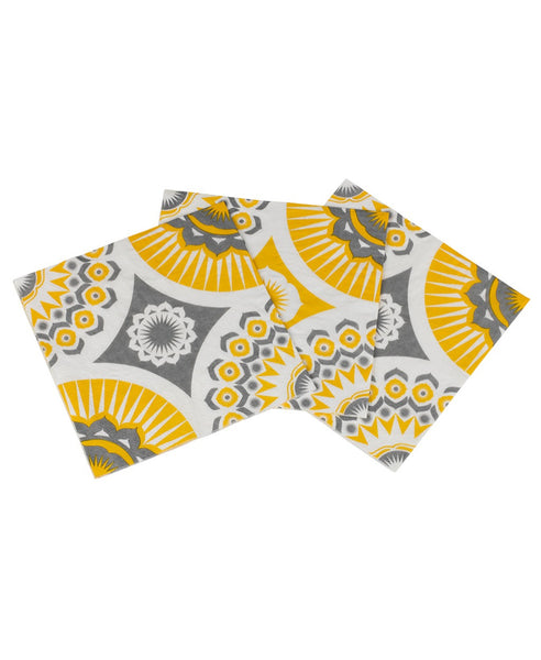Mini Moderns yellow darjeeling paper napkins