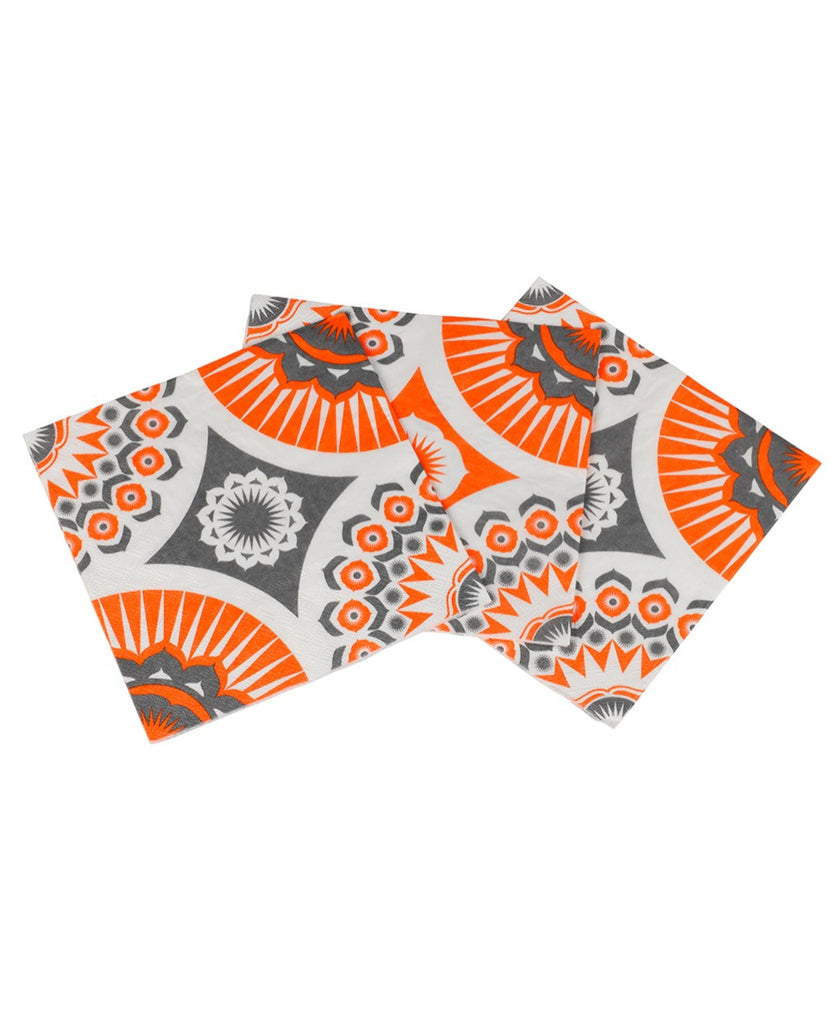 Mini Moderns orange darjeeling paper napkins