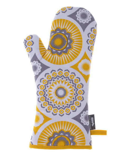 Mini Moderns yellow darjeeling oven glove