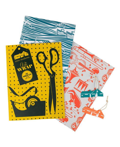 Mini Moderns gift wrap book