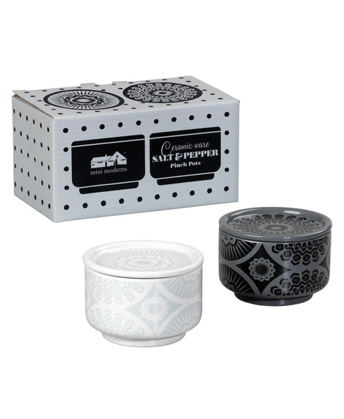Mini Moderns ceramic salt & pepper pinch pots