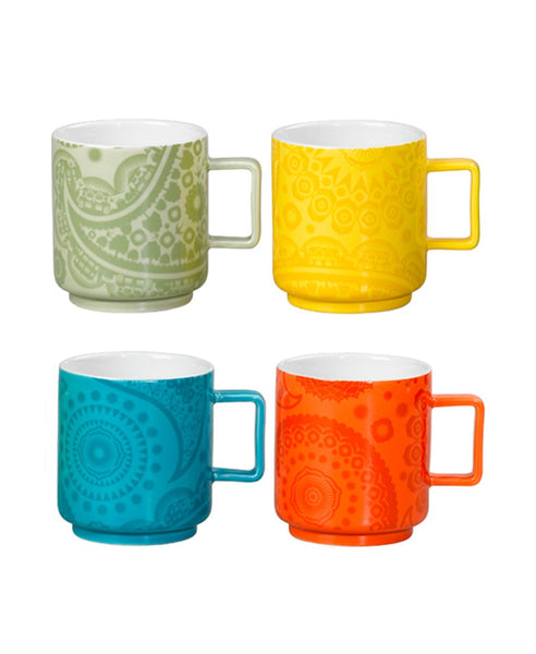 Mini Moderns set of 4 ceramic mugs