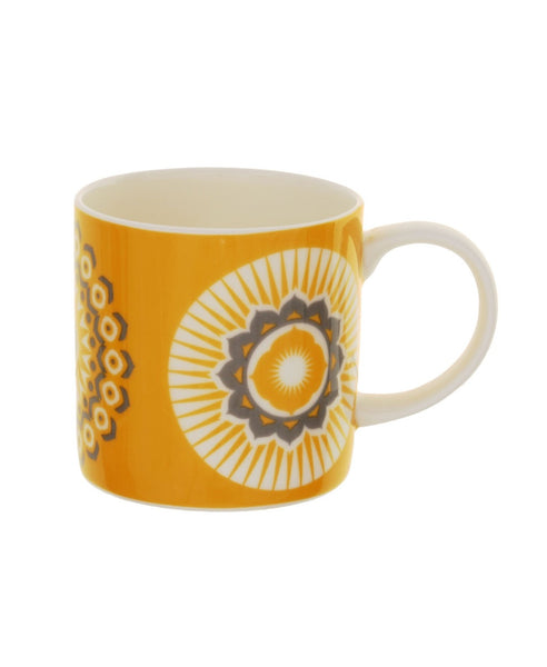 Mini Moderns yellow darjeeling mug