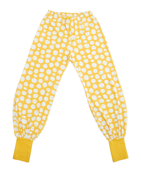 More Than a Fling yellow dot trousers