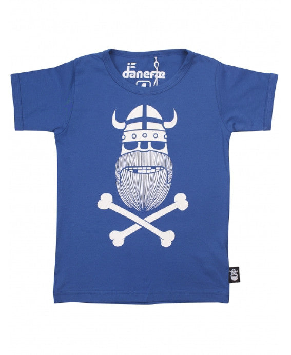 Danefae blue glow in the dark viking ghost t-shirt