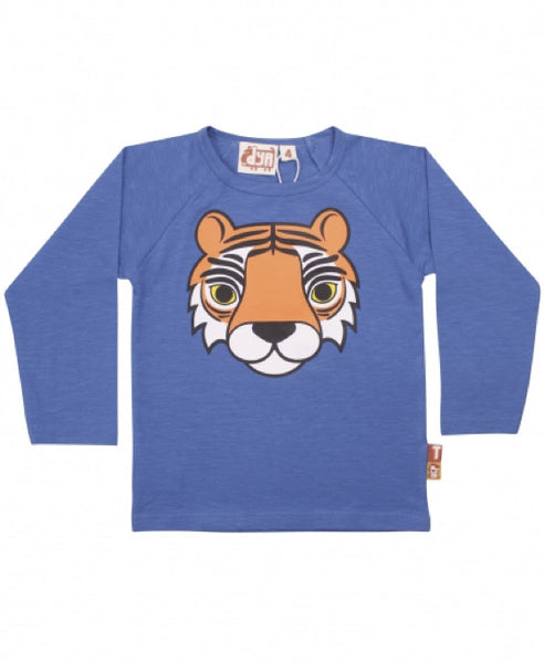 Dyr by Danefae enamel blue tiger top